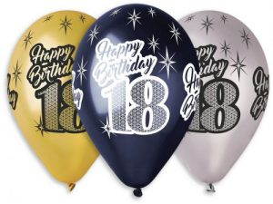 18-års ballonger 6-pack - Temafest & Högtider.