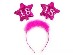 18-års diadem rosa stjärnor - Maskerad.