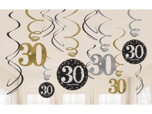 30-års strings - Dekorationer.