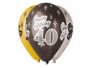 40-års ballonger 6-pack - Temafest & Högtider.