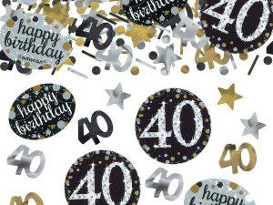 40-års konfetti - Temafest & Högtider.