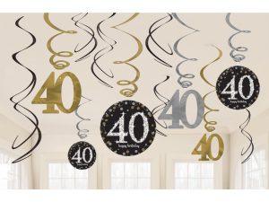 40-års strings - Dekorationer.