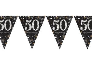 50-års vimpelgirlang - Dekorationer.