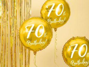 70-års heliumballong guld - Temafest & Högtider.