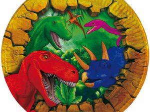 Assietter dinosaurier - Barnkalas.