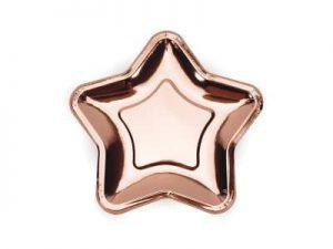 Assietter stjärna roséguld - Dukning.