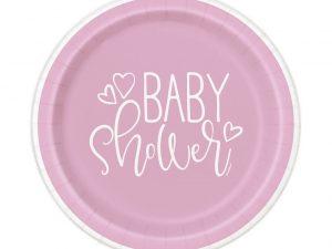 Baby Shower tallrikar ljusrosa - Dukning.