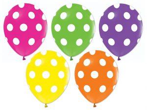 Ballonger med prickar 5-pack - Ballonger.