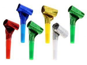 Blåstutor färgglada metallic - Dukning.