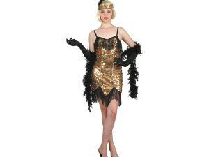 Charlestonklänning guld - Temafest & Högtider.