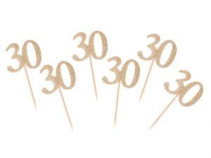 Cocktailpinnar 30-år guld - Temafest & Högtider.