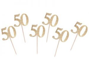 Cocktailpinnar 50-år Guld - Temafest & Högtider.