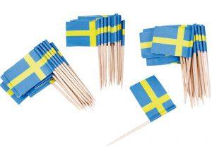 Cocktailpinnar Sverigeflaggor - Dukning.