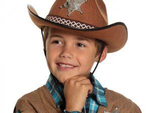 Cowboyhatt brun barn - Maskerad.