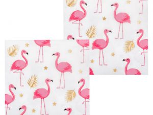 Flamingoservetter - Dukning.