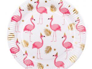 Flamingotallrikar - Dukning.