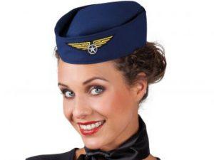 Flygvärdinna hatt - Maskerad.