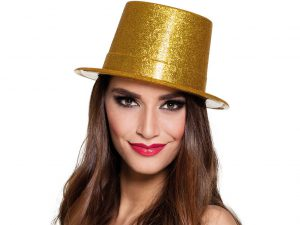 Glitterhatt guld - Maskerad.
