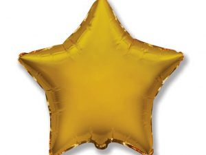 Guld heliumballong stjärna - Ballonger.