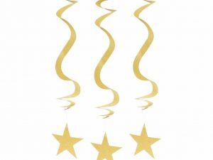 Guldstjärnor strings - Dekorationer.