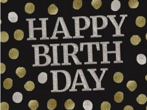 Happy Birthday servetter - Dukning.