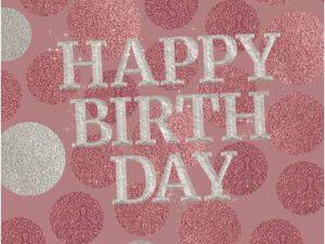 Happy Birthday servetter rosa - Dukning.
