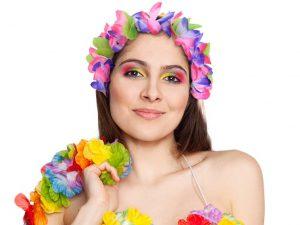 Hawaiidiadem lila - Maskerad.