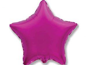 Heliumballong Stjärna Lila - Dekorationer.