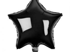 Heliumballong Stjärna svart - Barnkalas.