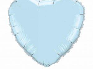 Heliumballong stort ljusblått hjärta - Temafest & Högtider.