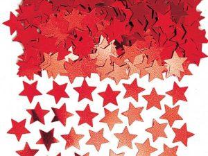 Konfetti röda stjärnor - Dukning.