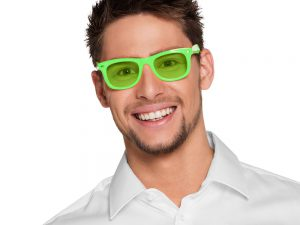 Neonglasögon grön - Temafest & Högtider.