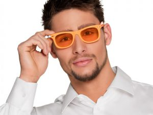 Neonglasögon orangea - Temafest & Högtider.