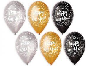 Nyårsballonger svart