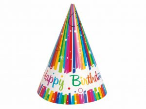 Partyhatt Happy Birthday färgglad - Dukning.