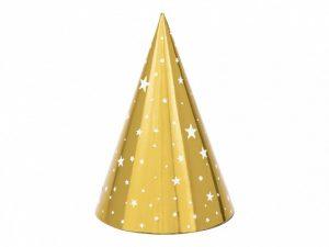 Partyhatt guld med stjärnor - Dukning.