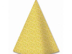 Partyhatt guldglitter - Dukning.