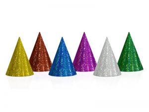 Partyhatt holografiska 10-pack - Dukning.