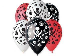 Piratballonger 5-pack - Barnkalas.