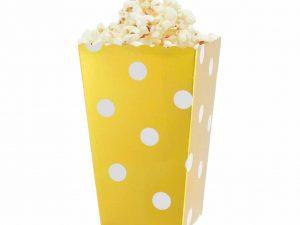 Popcornbox guld - Dukning.