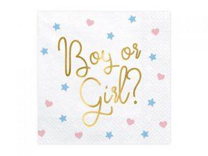 Servetter Baby Shower Boy or Girl - Dukning.