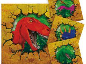 Servetter dinosaurie små - Barnkalas.