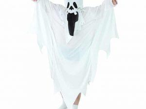 Spöke maskeraddräkt barn L - Maskerad.