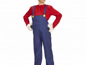 Super Mario maskeraddräkt barn 128 - Roliga Julklappar.
