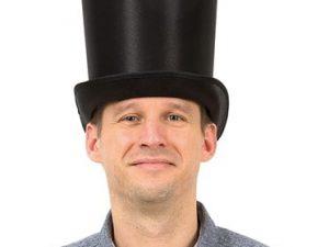 Svart hög hatt - Maskerad.