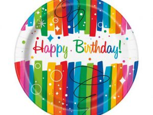 Tallrikar Happy Birthday färgglad - Dukning.