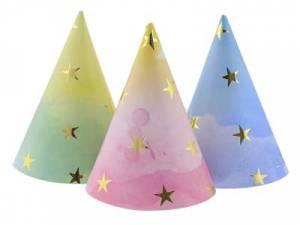 Partyhattar pastell stjärnor - Dukning.